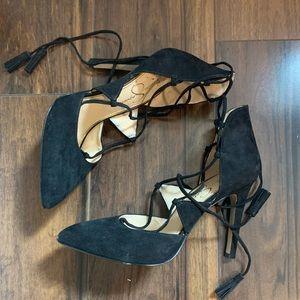 Jessica Simpson Black Tie Up Pumps Size 7